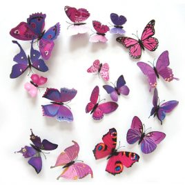 Magnet Butterflies, 3D Wall Stickers. Beautiful. 12 PCS