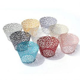 Decorative Lace Cupcake Liners. 50 pcs. 6 Colors to Choose.
