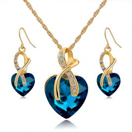Austrian Crystal Necklace and  Earrings Set